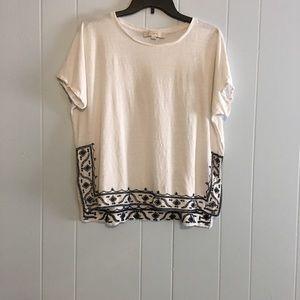 Ann Taylor LOFT embroidered shirt
